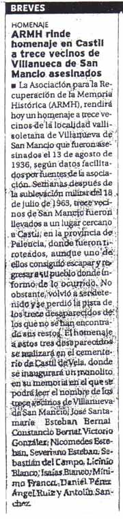 Diario Palentino, 13 de agosto de 2004