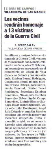 El Norte de Castilla, 12 de agosto de 2006