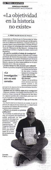 El Norte de Castilla, 25 de agosto de 2006