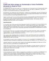 El Norte de Castilla, edición de Palencia, 13 de agosto de 2004