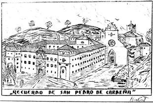 Boceto de San Pedro de Cardeña realizado por Herbert Fornezzi, 1939