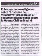 Periódico Carrión, octubre de 2006, 2ª quincena
