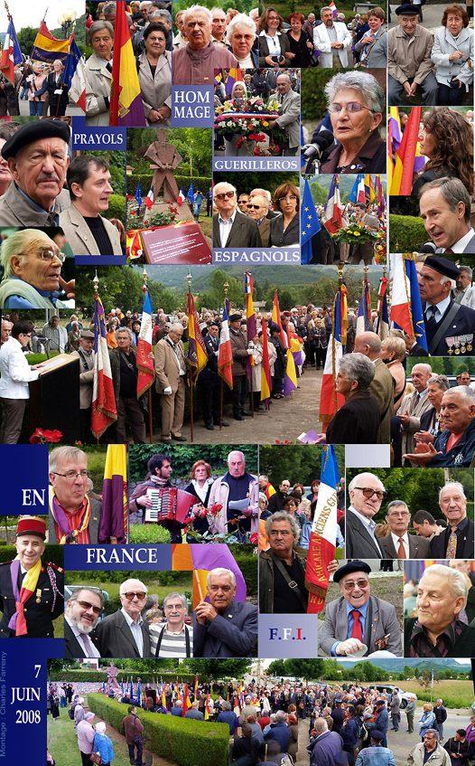 Homenaje a los Guerrilleros españoles en Francia (FFI)
