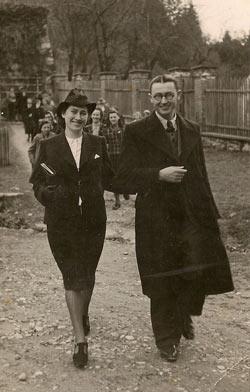 Janez Titan with fiance Zinka Skrbic